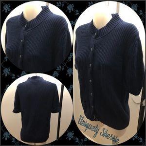 Talbots Ribbed Navy Blue Sweater